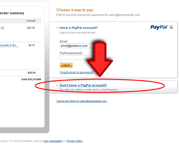 Don't have Paypal Account, Don't have Paypal Account